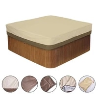 outdoor courtyard spa bathtub swimming pool dust cover square hot tub cover waterproof canopy daily cover universal for valuable