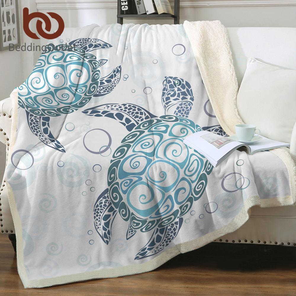 غطاء سرير على شكل سلحفاة شيربا للأطفال والبالغين والسلحفاة بطانية لينة من القطيفة غطاء أريكة بأشكال حيوانات بحرية خضراء وزرقاء لحاف رقيق
