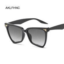 Oversized Cat Eye Sunglasses Women Designer Brand Big One Lens Black Square Sun Glasses Female Uv400 Transparent Frame
