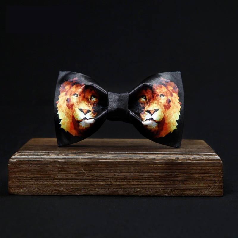 Brand New Men's Bowtie Fashion Tiger Print Bow Tie Great For Party Men Dress Shirt Tie Children Bow Ties