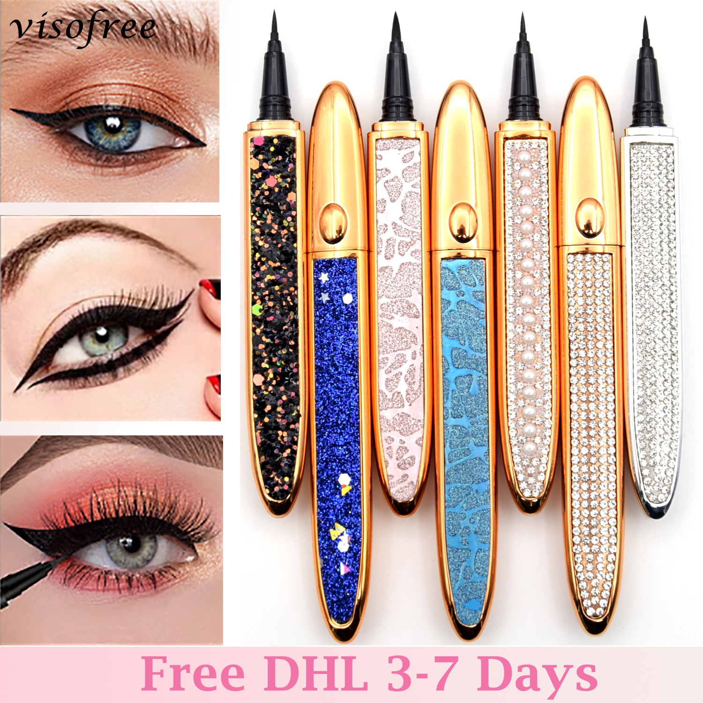 Visofree الحرة DHL الذاتي لاصق كحل القلم الغراء خالية المغناطيسي ل الرموش الصناعية مقاوم للماء لا تزهر العين قلم تحديد