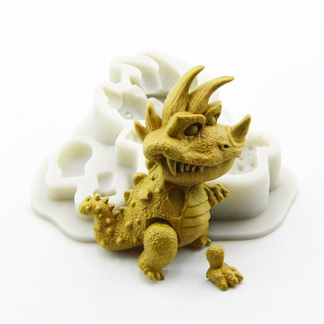Тираннозавр, формы для торта, помадки, инструменты для украшения тортов, силиконовая форма из смолы, «сделай сам», кондитерские, кухонные ак...