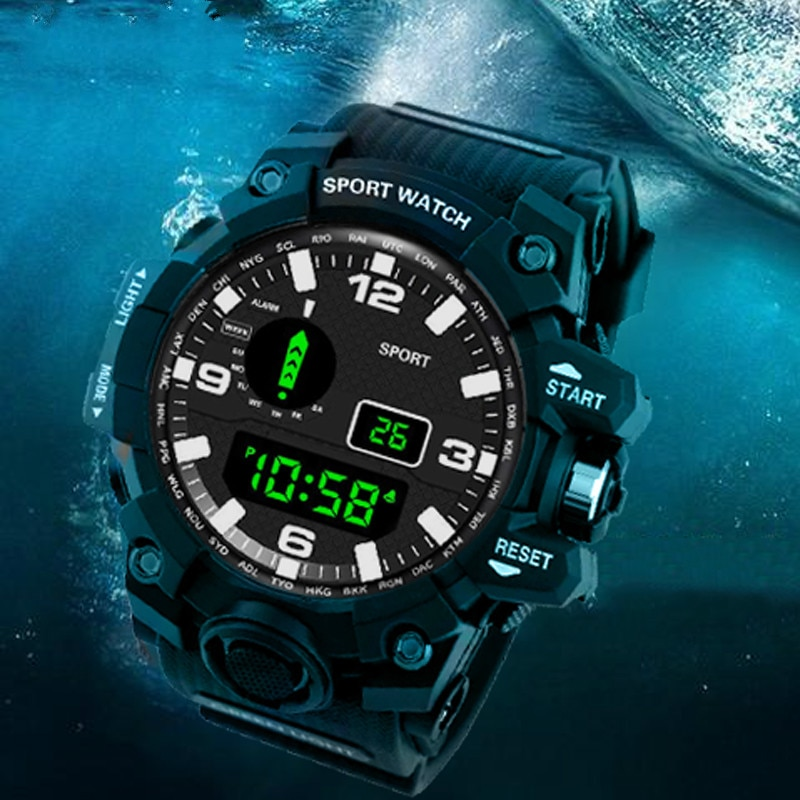 Reloj deportivo SANDA para hombre, reloj Digital con alarma a prueba de agua, cronógrafo con cuenta atrás, reloj electrónico LED, reloj digital nuevo