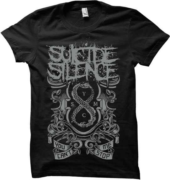 Silencio suicida-Voi no puede parar Me T camisa S-M-L-XL Nuovo Ufficiale