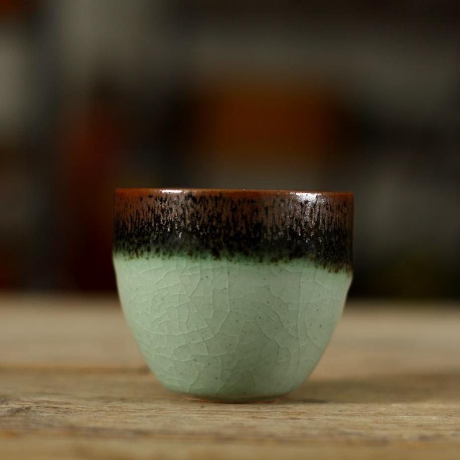 """Horno """"KingTeaMall"""" Lang Yao """", porcelana de esmalte de óxido elegante, taza de té, 3 variaciones, 60CC, taza de té, tazas de té, regalos"""