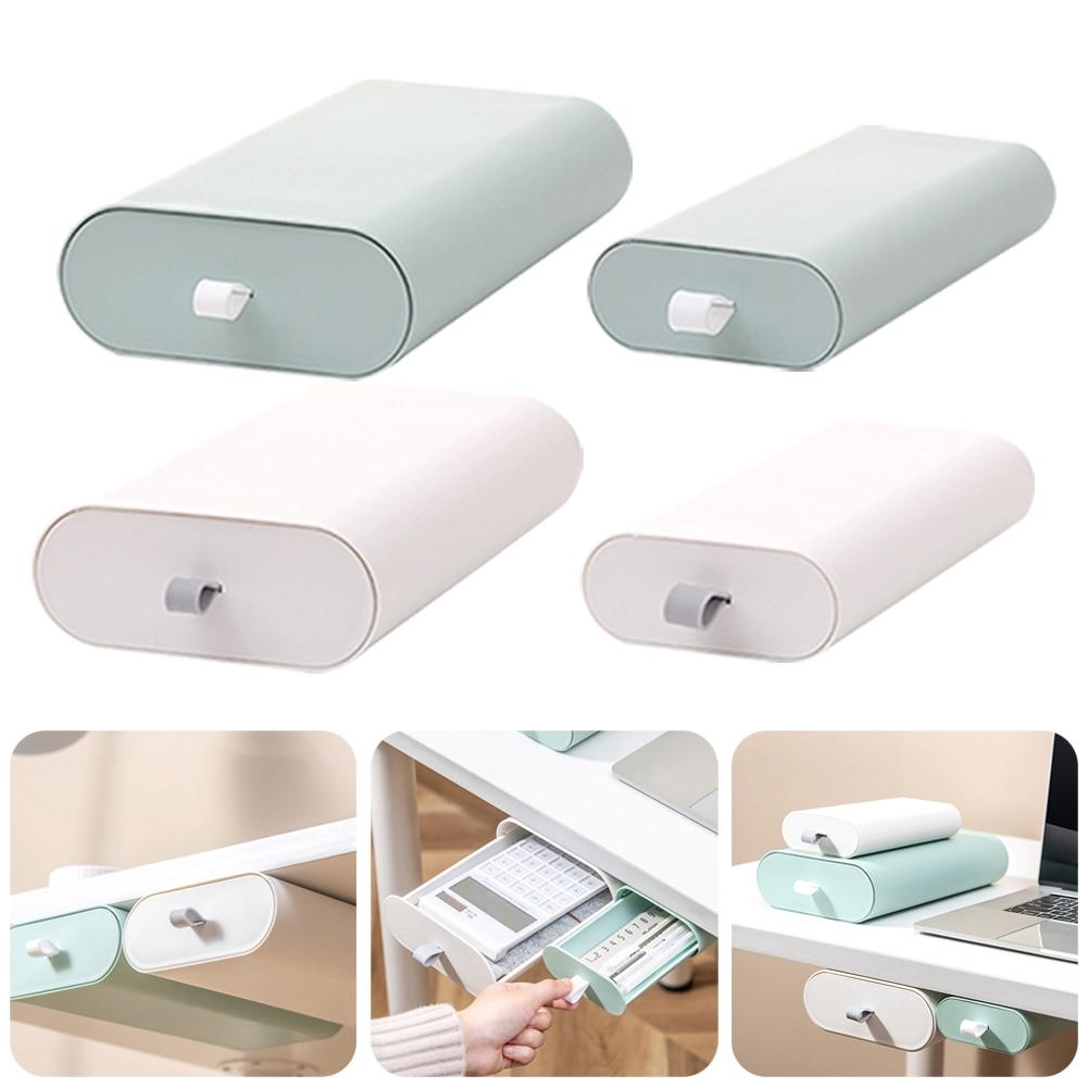 Выдвижной ящик для стола, скрытый держатель-органайзер для дома, офиса, школы, для хранения