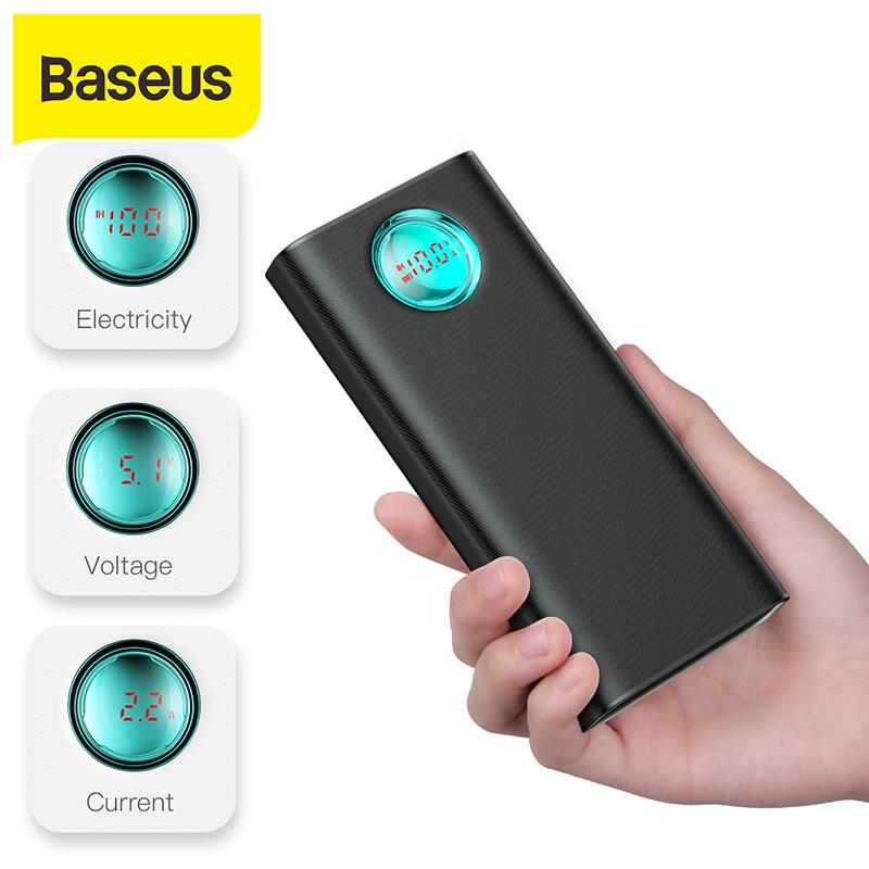 Baseus 20000mAh قوة البنك 18 واط PD3.0 QC3.0 شحن سريع في الهواء الطلق المحمولة شاحن السفر بطارية خارجية Powerbank للهاتف