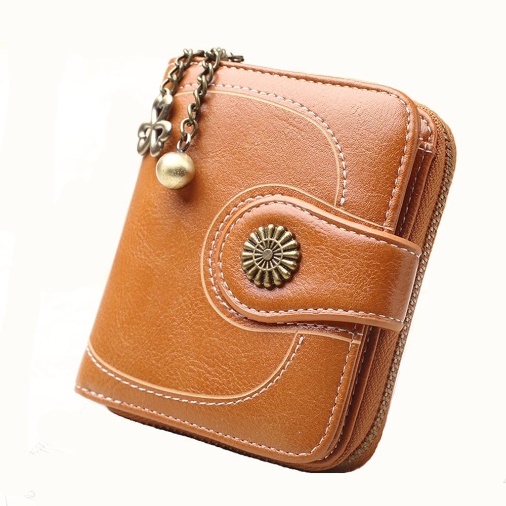 PU Leather Women's Wallet Short Large Capacity Purse Casual Brief Card Holder Pocket Fashion Coin Mo