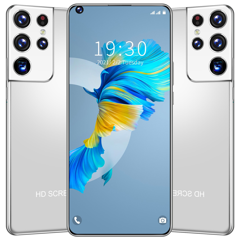 S21 Ultra Global Version smartphone 6.8 HD Inch Full Screen 2GB 32GB Dual SIM Smart Phone 4800mAh Andriod Mobile Phone