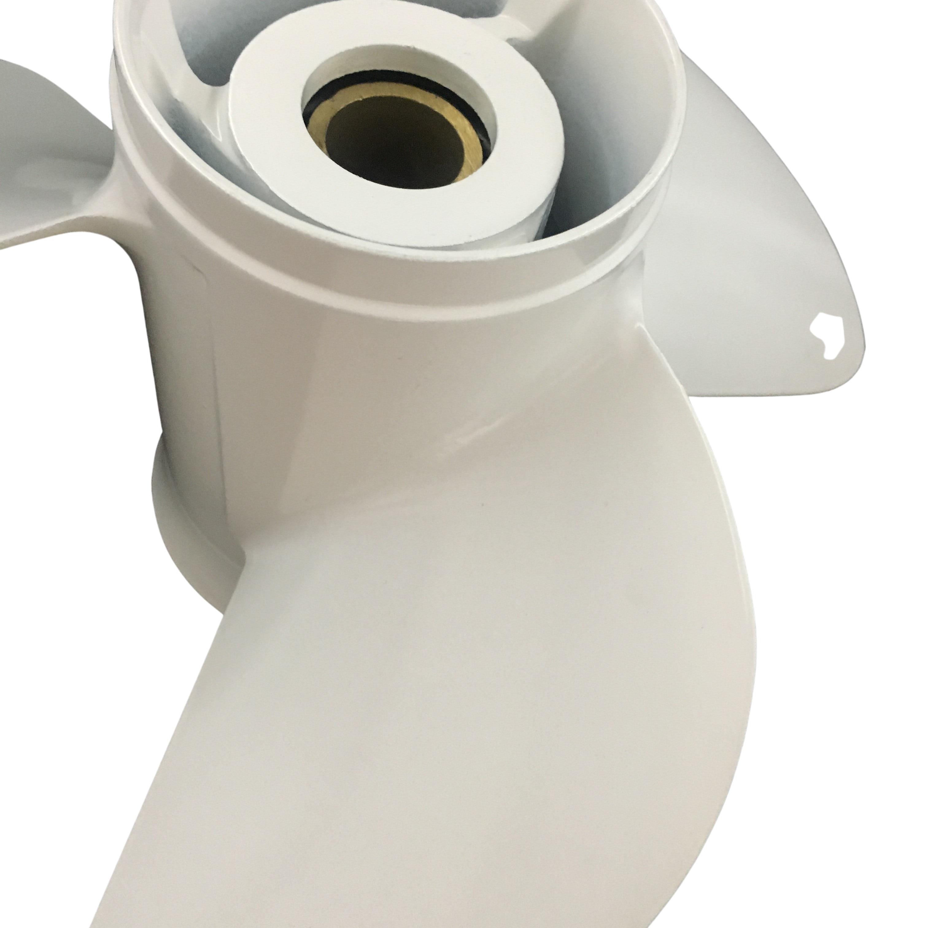Boat propeller suit for Yamaha 13 1 2x15 aluminum prop 60-115HP 3 blade 15 tooth RH OEM No: 6E5-45947-00-EL enlarge