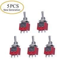 Petit interrupteur à bascule Miniature SPST   5 x On/Off 6mm - AC250V 3A 120V 5A
