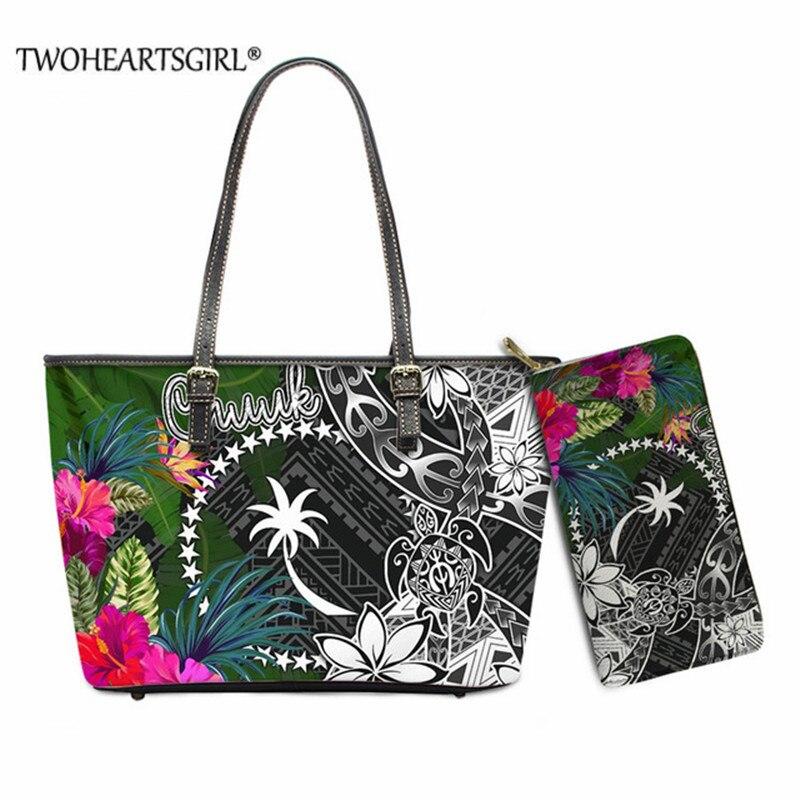 Bolsas para as Mulheres Zíper à Prova Bolsa de Ombro Twoheartsgirl Nova Moda Chuuk Polinésia Estilo Tribal 3d pu Bolsa Dwaterproof Água Bolsas