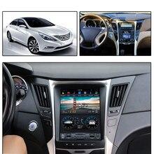 Für Hyundai Sonata YF i45 2012-2014 Android 9 PX6 vertikale bildschirm 10,4 zoll Auto GPS Radio Navigation Player