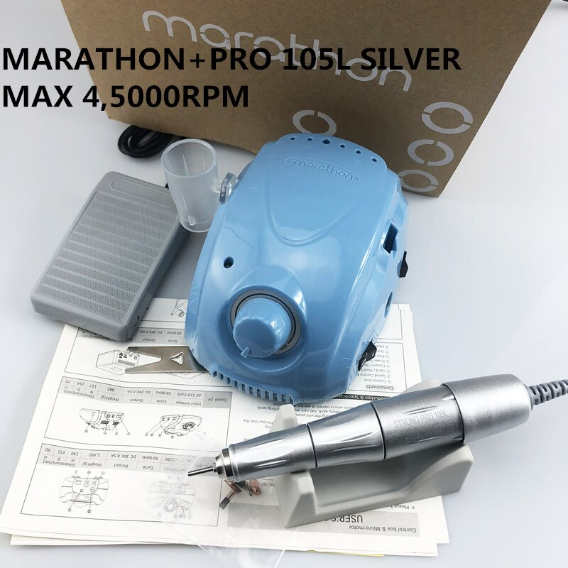 Fuerte 210 45000rpm MARATHON-Champion 3 PRO 105L juego de taladro eléctrico de manicura para laboratorio Dental MARATHON Micromotor