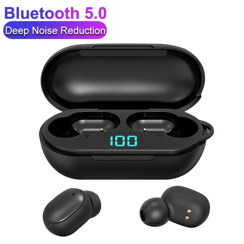 Auriculares H6 TWS para Redmi Airdots, auriculares inalámbricos con pantalla LED, Auriculares Bluetooth V5.0 con micrófono para iOS y Android PK A6S E6S A6X