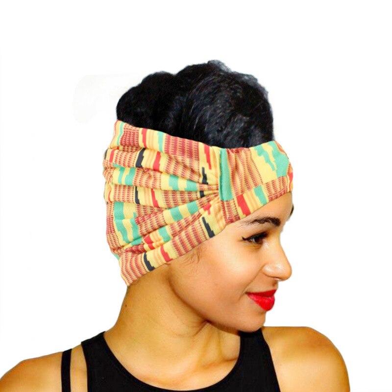Moda feminina atada imprimir boêmio bandana cabeça elástica envoltório turbante hairband menina cabelo accessoriesr