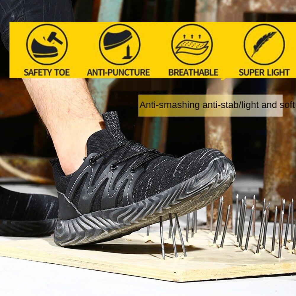 أحذية واقية السلامة خفيفة الوزن وتنفس أحذية أمان كبير مكافحة تحطيم أحذية عمل واقية السلامة