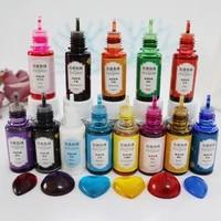 13colors liquid art ink alcohol resin pigment liquid colorant dye ink diffusion resin pigment flower favor resin craft art diy