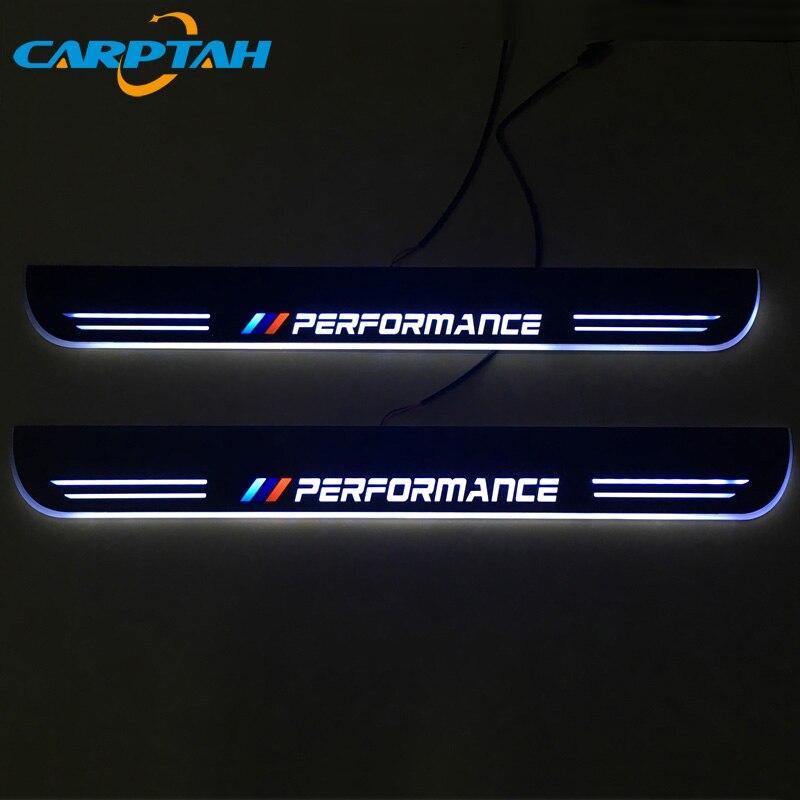 CARPTAH ajuste Pedal partes exteriores LED travesaño placa camino dinámico Streamer luz para BMW E63 E64 6 serie 2013-2015