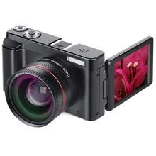 DC101 Anti Vibración portátil CMOS HD 1080P DSLR Cámara LCD pantalla giratoria fotografía Video videocámara Digital Mini Zoom de viaje