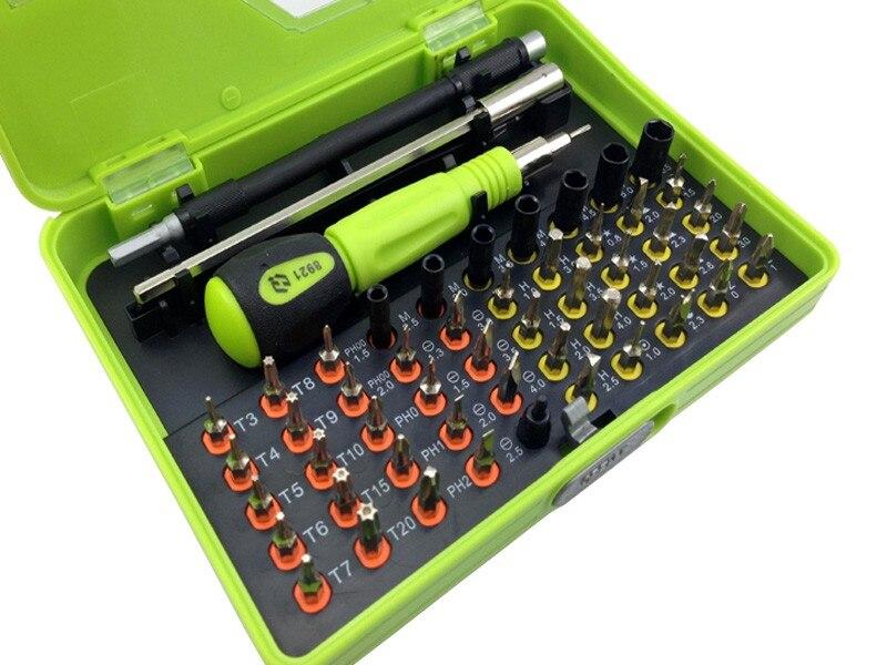 Destornillador magnético 53 en 1 Kit de herramientas de destornillador de precisión para la reparación del teléfono HJQ-8921
