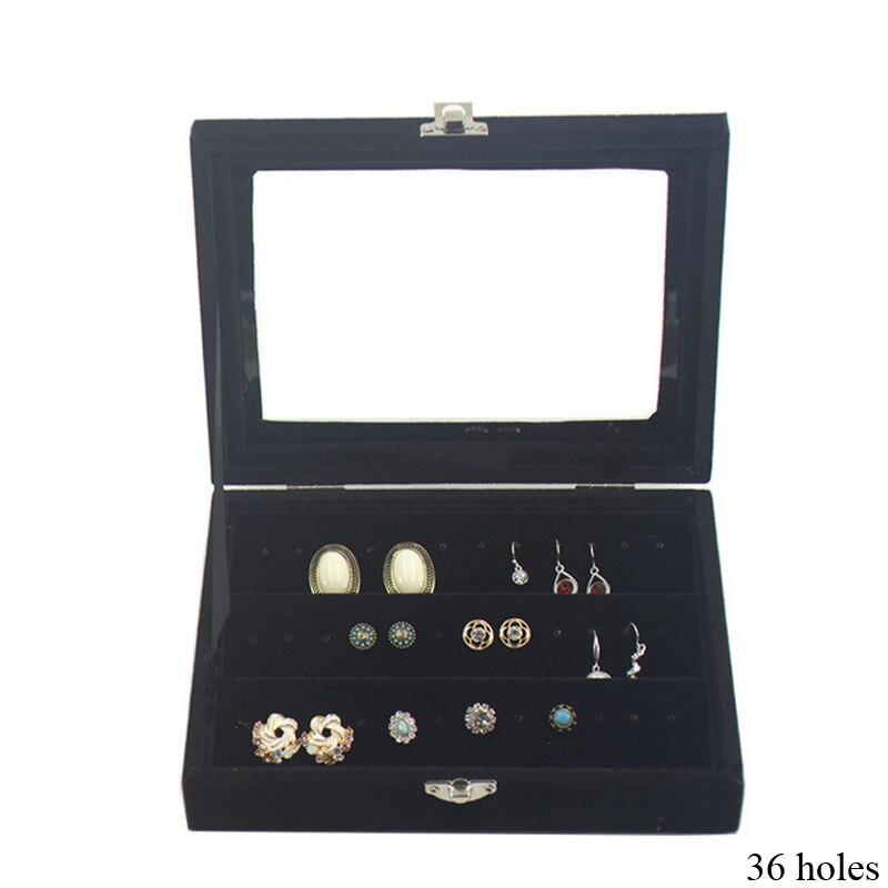 Бархатные шкатулки для ювелирных изделий, коробочки для хранения украшений, колец, серег, браслетов, ожерелий и других украшений, Органайзе...