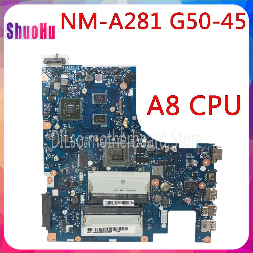 KEFU NM-A281 اللوحة الرئيسية لينوفو G50-45 اللوحة الأم DDR3 HM76 إنتل المتكاملة 90 يوما