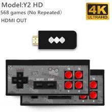 데이터 개구리 USB 무선 핸드 헬드 TV 비디오 게임 콘솔 600 클래식 게임 8 비트 미니 비디오 콘솔 지원 AV/HDMI 출력 비디오 게임 콘솔    -