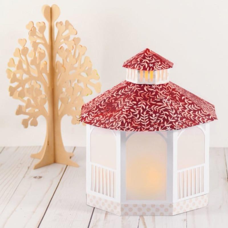 Dados 3d casa lanterna dados novo 2020 artesanato dados corte para casamento convite scrapbooking diy casa decorativa