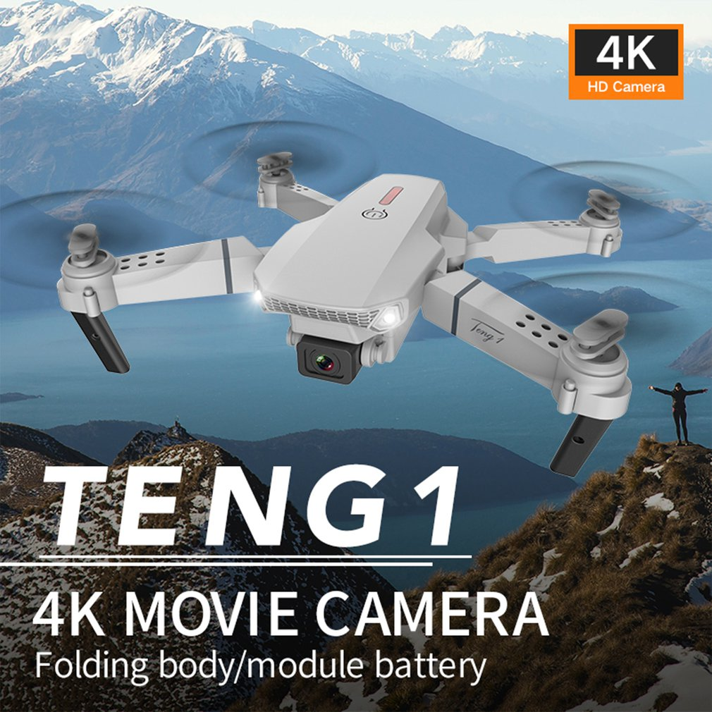 E88 Pro Drone 4k HD Single/Dual Camera Visual Positioning 1080P WiFi FPV Drone Height Preservation RC Quadcopter Dron Toys
