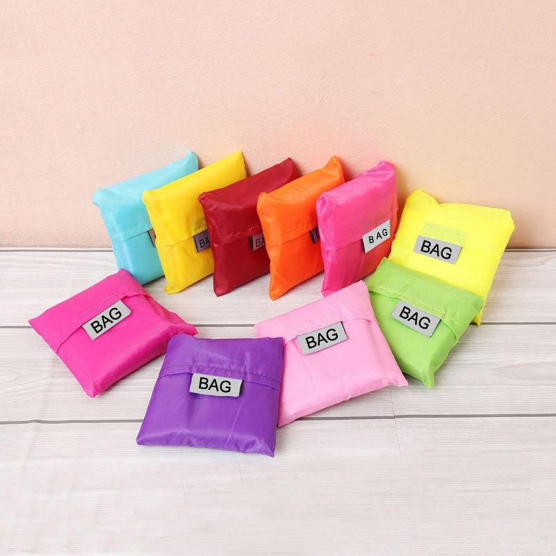 Nueva bolsa de compras a prueba de agua, plegable, creativa, reutilizable, plegable, bolsa de compras Eco, bolsa de supermercado