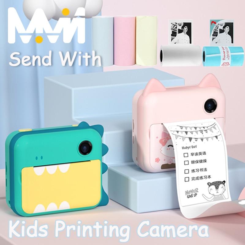 كاميرا فورية الأطفال كاميرا الاطفال طابعة ل هدية عيد ميلاد ل ديناصور صور فيديو كاميرا الطفل الرقمية مع ورق الطباعة