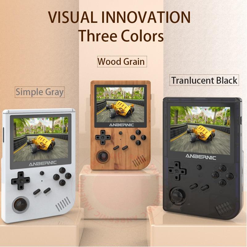 ANBERNIC-mando de juegos RG351V, Consola de juegos Retro, RK3326, Wifi, pantalla IPS en línea, portátil, Opendingux