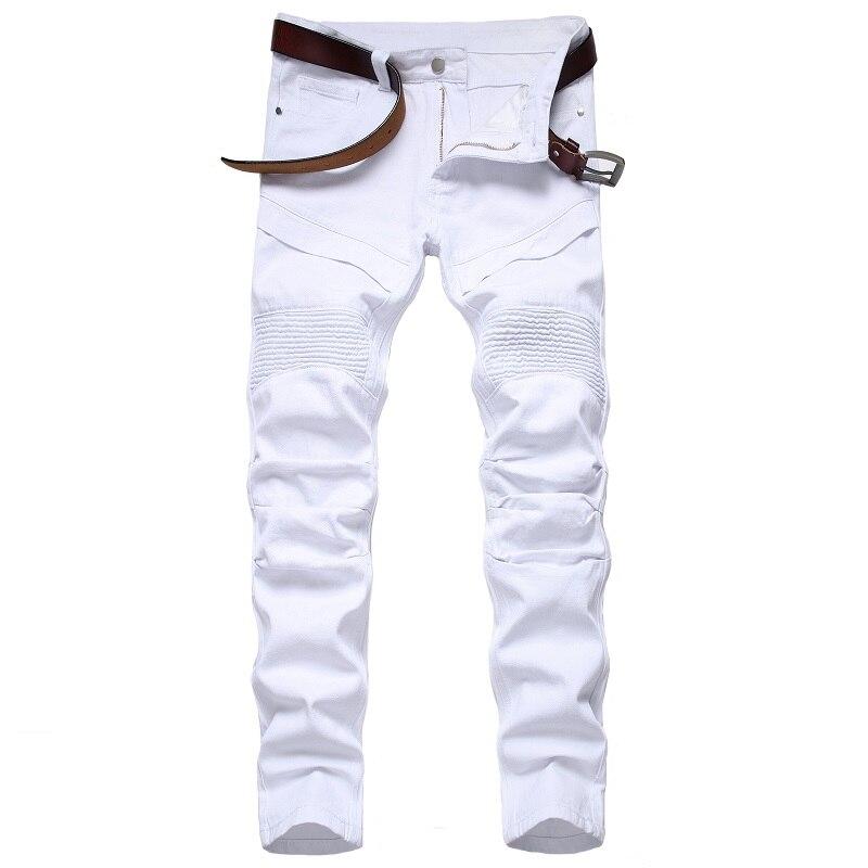 Новинка 2021, белые разноцветные мотоциклетные джинсы, Мужские Оригинальные модные штаны, джинсы, брюки, трендовая Мужская одежда, штаны