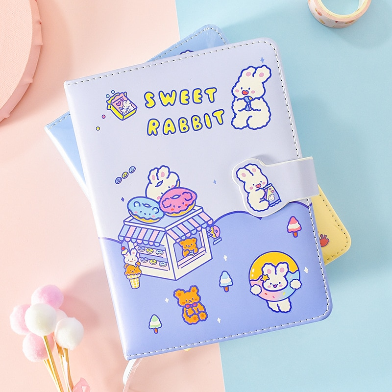 Sweet Bunny Faux Leather Cover Journal Diary Cute Notebook Notepad Girls Planner Stationery Gift rabbit nina faux leather cover journal diary cute notebook notepad girls planner stationery gift