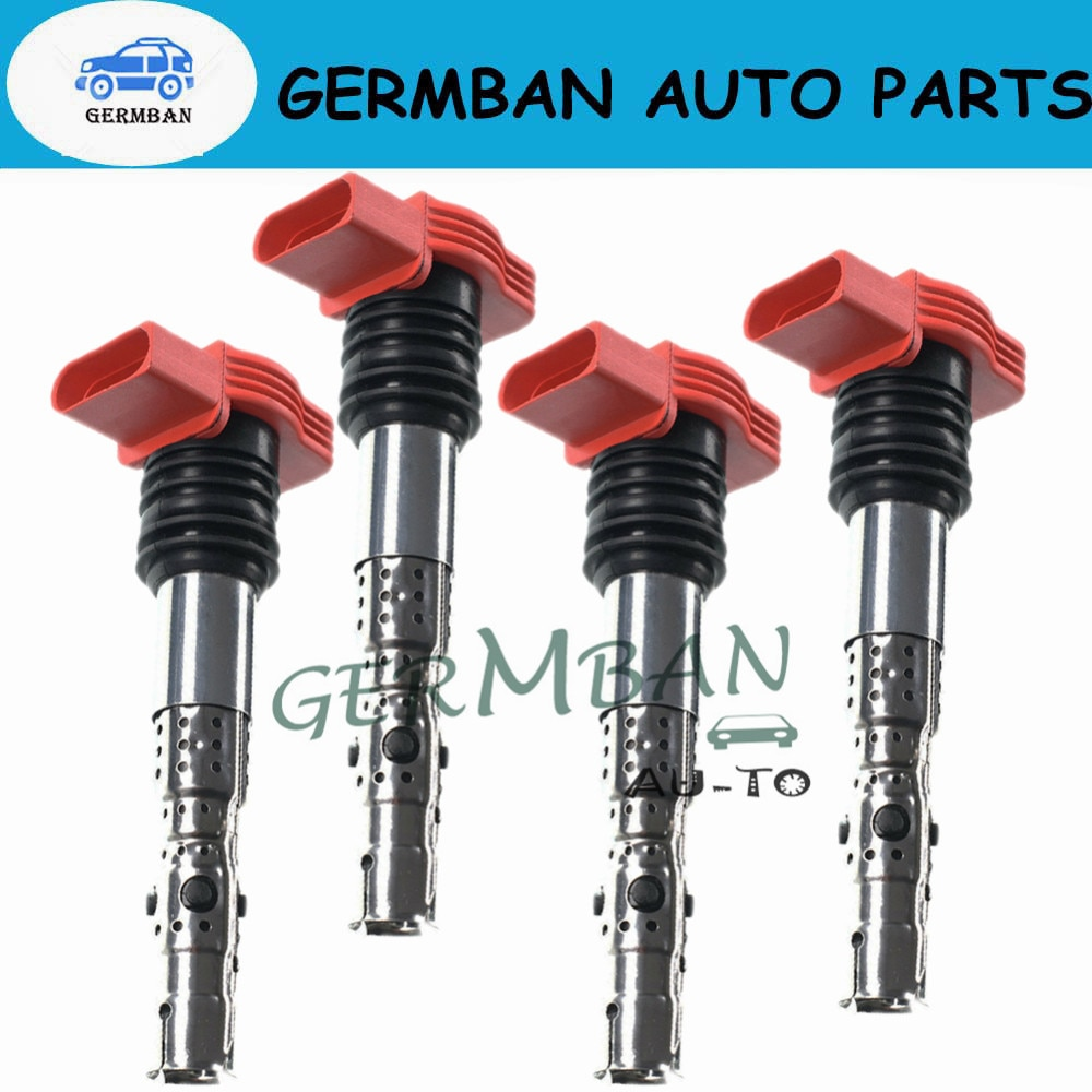 06C905115B UF-483, C147 New 4 PCS ignition coil ignition system For VW Crafter Jetta Bora Golf MK4 Passat B5 AUDI A3 A4 TT 1.8T