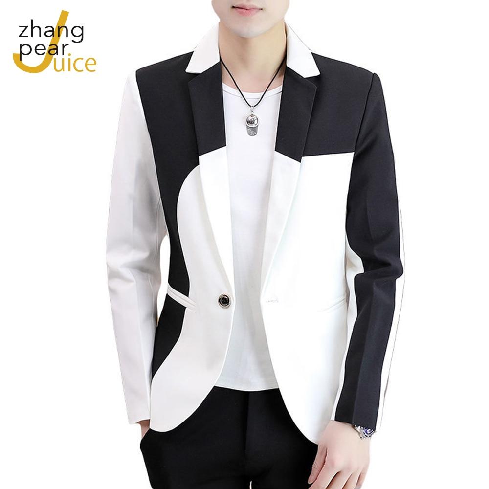 Мужской Блейзер, новый мужской пиджак, Блейзер, Мужской приталенный Повседневный модный трендовый пиджак в Корейском стиле, мужской блейзе...