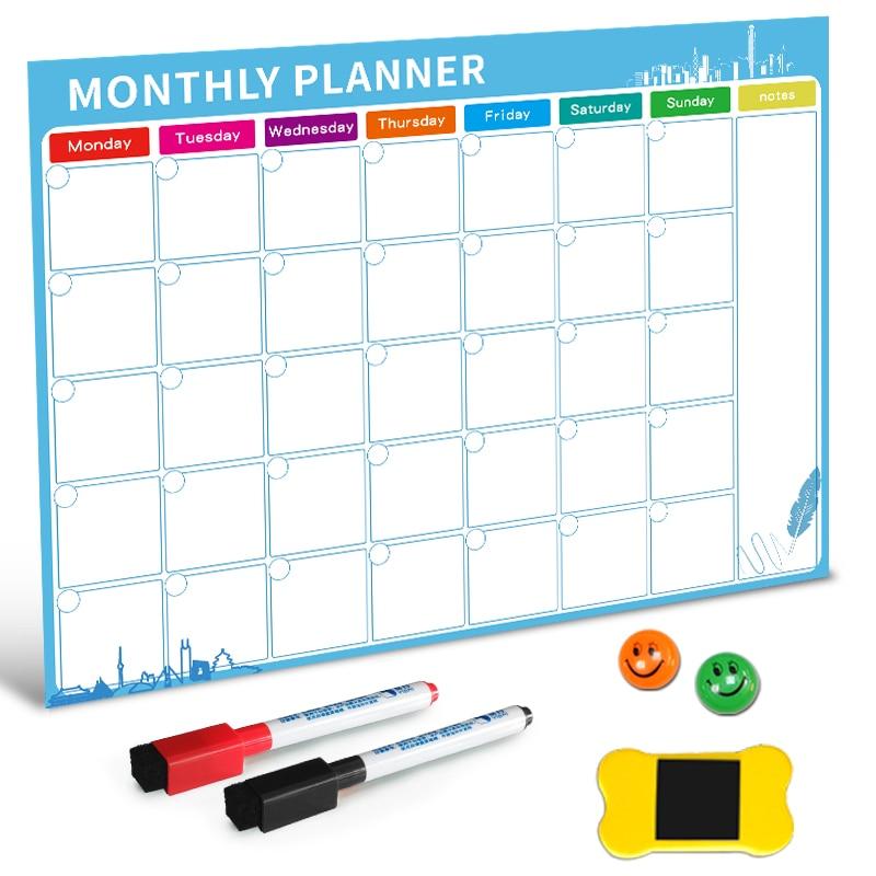 Магнитная доска для сухой стирания магниты на холодильник список дел ежемесячный ежедневник планировщик 2019 органайзер для кухни