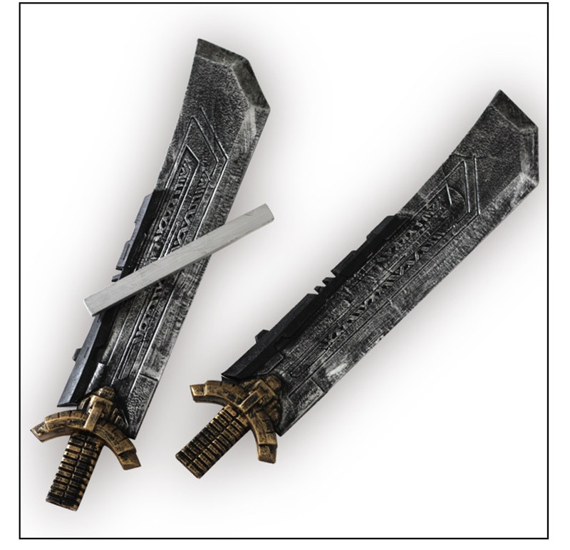 Купить с кэшбэком 1:1 Cosplay Movie Superhero Double-edged Sword Prop Weapon Role Playing Double-edged PU Sword 108cm Halloween Gift