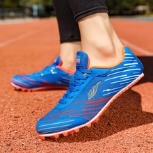 Men's Track and Field Running Shoes Student Non-slip Sneakers Couple Track and Field Jogging Shoes O