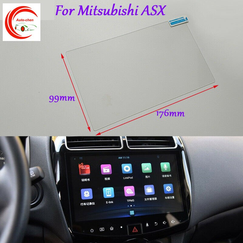 Для Mitsubishi ASX GPS Навигация экран стекло защитная пленка наклейка 8 дюймов интерьер стикер аксессуары