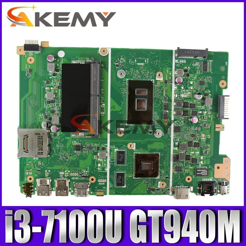Akemy Asus F441u A441u X441ur Laotop Mainboard Motherboard With I3-7100u Gt940m For X441uv X441u