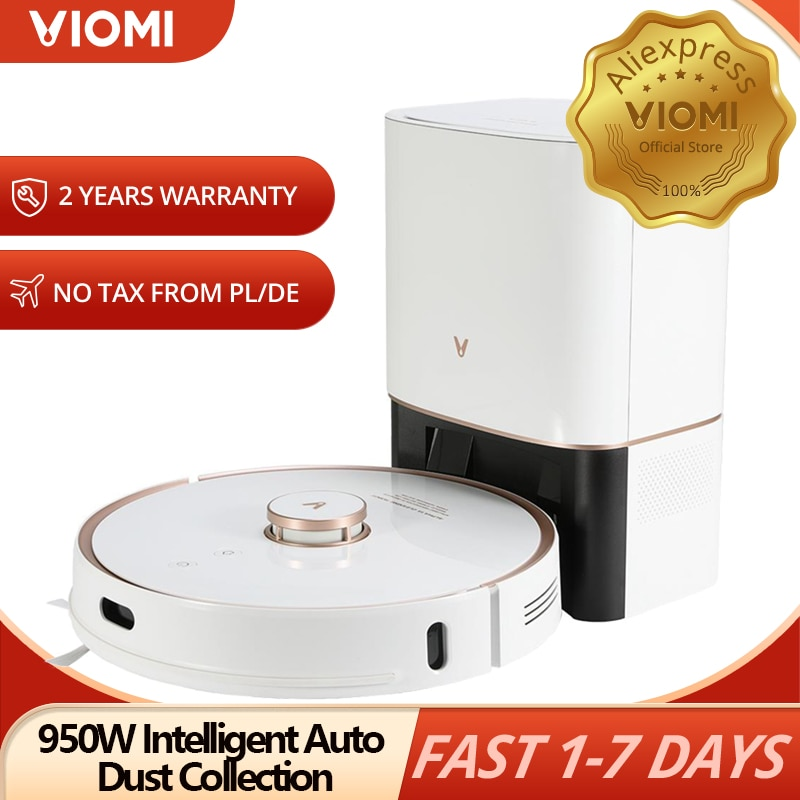 VIOMI S9 Robot Vacuum Cleaner With 950W Intelligent Auto Dust Collection, LED Display 2700Pa Floor Carpet Sweeping and Mopping