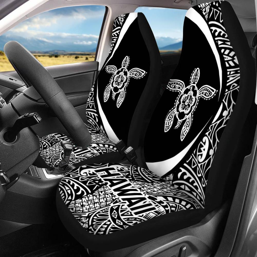HUGSIDEA moda Hawaii Boho tortuga marina impresión Universal 2 uds coche Cubiertas de asiento delantero accesorios interiores cubierta completa nuevo