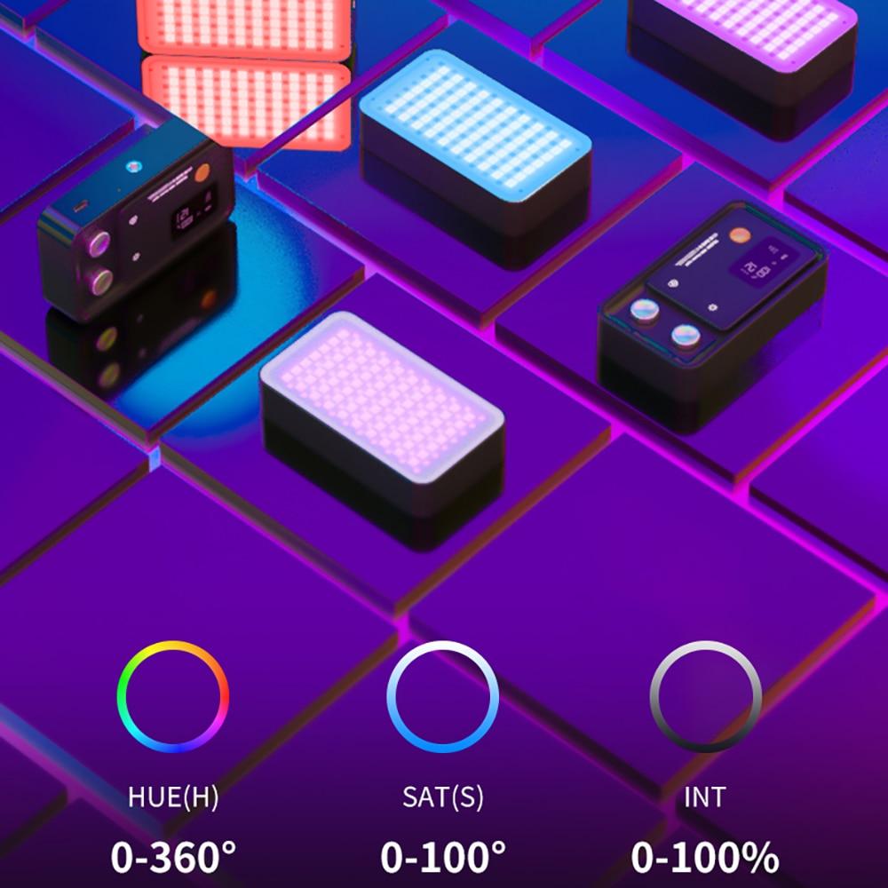 TE-RGB-001 RGB LED Lamp 2500K-8500K On Camera Video Fill Light 12W Charging enlarge