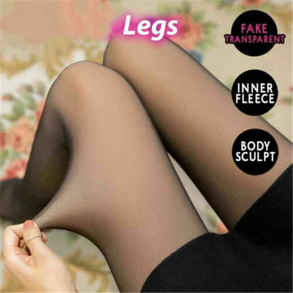 Polainas de invierno cálidas párr mujer Leggings ajustados de cintura alta para...
