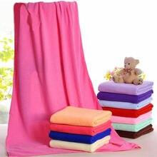 Serviette en microfibre naturelle fibre absorbante famille bain laveuse plage serviettes de natation couleur Pure 70x140cm