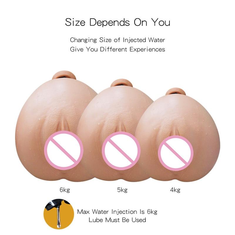 Curling masturbador realista para hombres Vagina Artificial Real Vagina de silicona culo grande puede añadir hielo y agua caliente sexo muñeca del sexo para los hombres