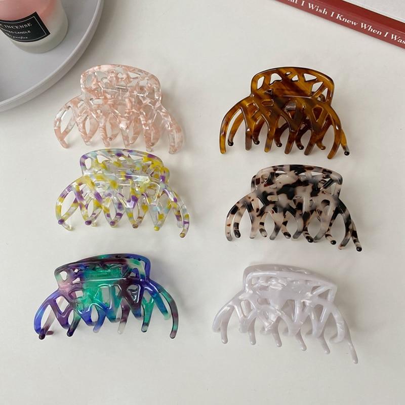 Headwear for Women Vintage Hair Claw Acetate Hair Claws Rectangle Hair Clip Geometric Hairpin Makeup