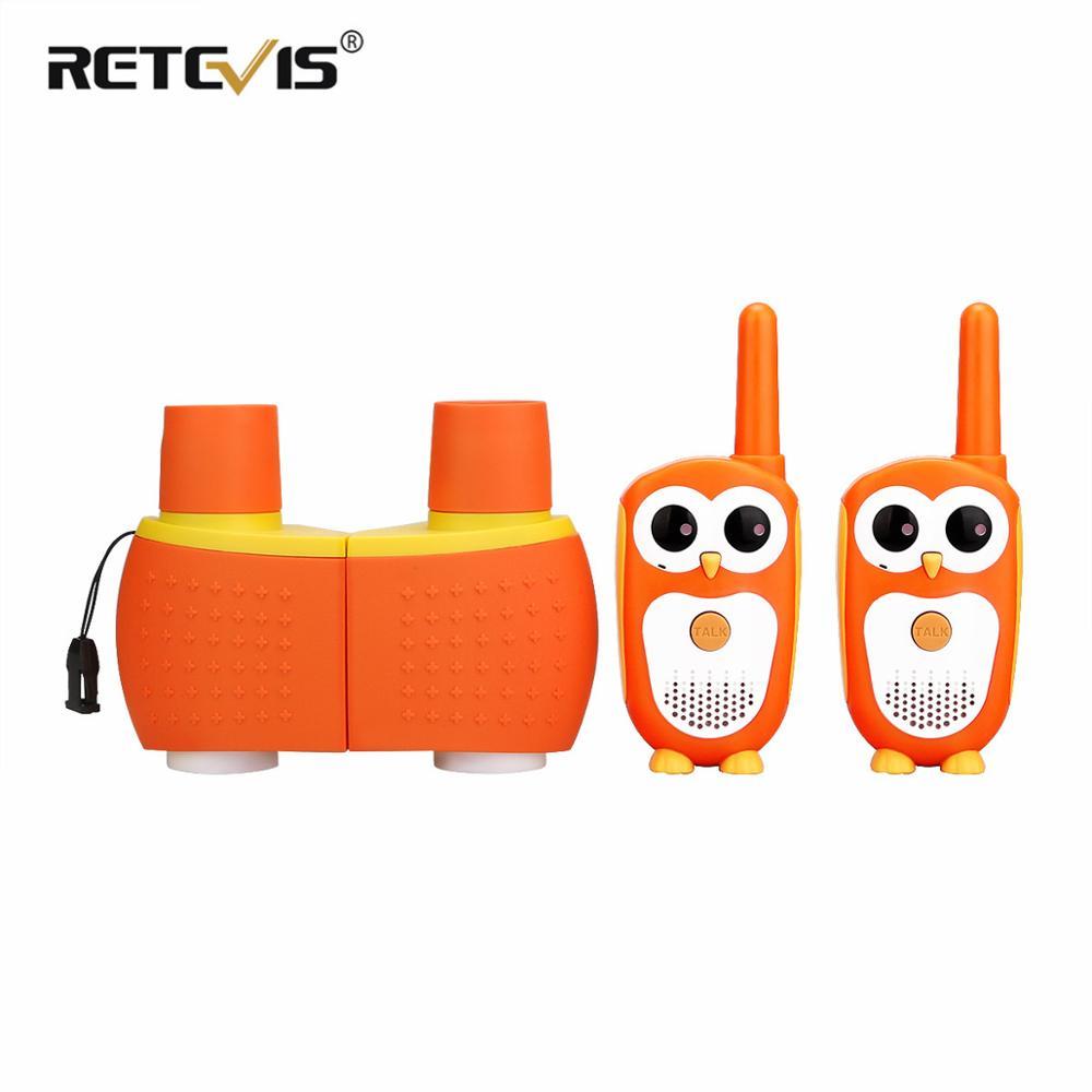 Мини-рация Retevis RT30, детская портативная рация с изображением совы PMR 446, двустороннее радио и бинокли SV201 6X18, рождественский подарок